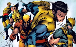Picture mask, costume, claws, Wolverine, Logan, Wolverine, X-Men, Logan, comic, marvel, Marvel Comics, X-Men, James Howlett