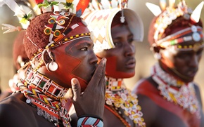 Picture africa, Kenya, Samburu warriors