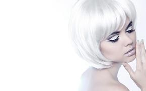 Picture girl, model, makeup, blonde