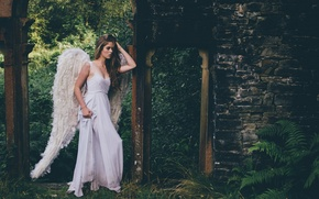 Picture girl, wings, the situation, angel, dress, Grace Bowker