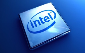 Picture blue, logo, intel