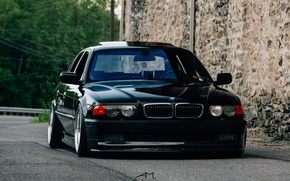 Wallpaper E38, BMW, stance