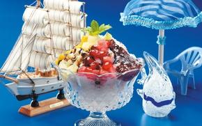 Picture sailboat, dessert, Souvenirs