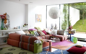 Picture light, joy, sofa, stay, color