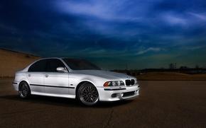 Picture road, machine, BMW, BMW, 2002, E39