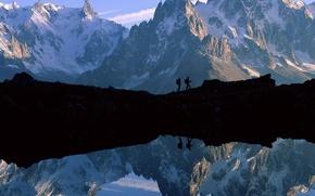 Wallpaper lake, mountains, landscape