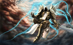 Picture blizzard, diablo, art, tyrael, Archangel of Justice