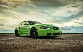 Picture Mustang, Ford, Green, Cobra, SVT