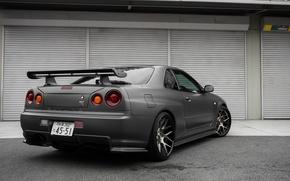 Picture Nissan, Nissan, Skyline, Godzilla, R34, Skyline, Wheels