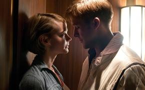 Picture lift, drama, Driver, crime, Drive, Drive, Ryan Gosling, Ryan Gosling, Carey Mulligan, Carey Mulligan, Irene