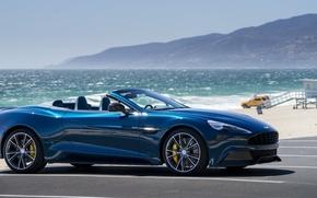 Wallpaper sea, convertible, mountains, coupe