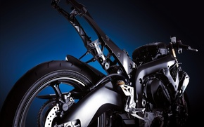 Picture engine, frame, motorcycle, mechanisms