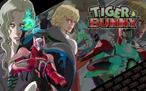 Picture armor, guys, cool, Bunny, Tiger and Bunny, fighting robots, Tiger & Bunny