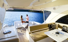 Picture sea, wine, yacht, glasses, two