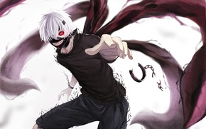 Picture look, anger, mask, claws, guy, chain, art, ltt challenger, ghoul, tokyo ghoul, Ken kanek, naucnici