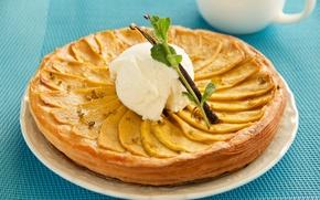 Picture pie, ice cream, mint, cakes, filling