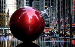 Picture ball, Christmas, New York, Xmas Decoration