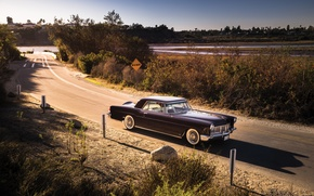 Picture road, Lincoln, background, Continental, the front, 1956, Lincoln, Mark II, Continental