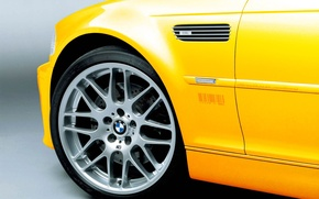 Wallpaper Yellow, Wheel, BMW