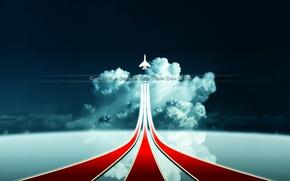 Wallpaper Line, The sky, The plane