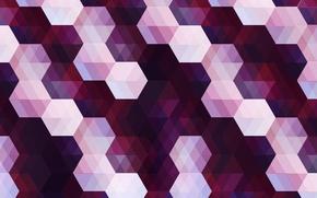 Wallpaper corners, hexagon, diamonds