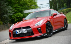 Picture Nissan, Red, GT-R, 2017