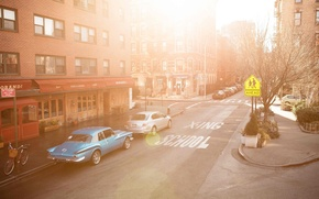 Picture City, Car, Morning, Streetscape