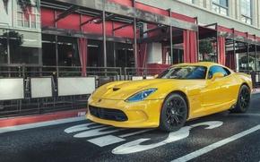 Picture Dodge, Viper, Street, Yellow, GTS, SRT