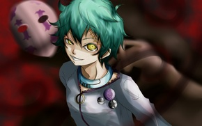 Picture anime, mask, art, collar, guy, scar, icons, Wonderland suicide, deadman wonderland, sakagami toto, kuroki from