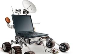 Wallpaper White, Laptop, Rover