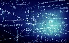 Picture algebra, mathematics, blackboard