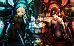 Wallpaper fiction, girls, anime