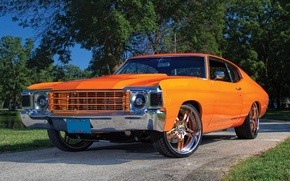 Picture wallpaper, orange, chevy chevelle