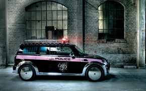Wallpaper Auto Mini Police tuning, gateway, flasher