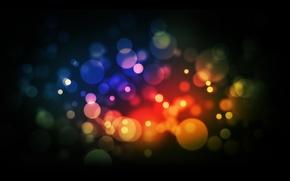 Picture circles, color, blur, art