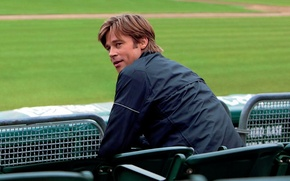 Picture Brad Pitt, Wallpaper, Man, Moneyball, Movie, Film, Human, Look, Actor, People, Multi-Monitors, The man who …