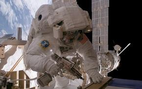 Picture space, NASA, extreme, suit, cosmonaut, International Space Station, astronaut, Sunita L. Williams, Expedition 14 flight …