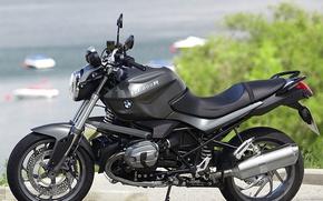 Picture sea, bike, Bmw R 1200R