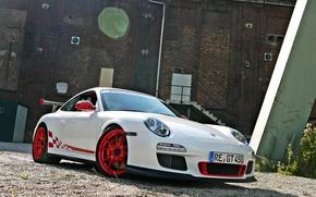 Picture white, Porsche, white, Porsche, GT3