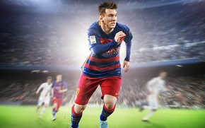 Picture Grass, Light, Field, Form, Nike, Stadium, Fifa, Electronic Arts, Player, Messi, EA Canada, Fifa 16