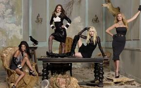 Picture Leighton Meester, Taylor Momsen, Gossip girl, Gossip Girl, Blake Lively, Jessica Szohr