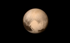 Picture space, surface, Pluto, a dwarf planet