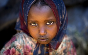 Picture people, people, planet, child, Africa, Ethiopia, Yabelo, girl Boranes, Eric Lafforgue Photography