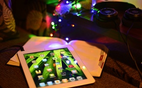 Picture tree, new year, apple, gifts, ipad