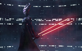 Picture the witch, crossover, Lightsaber, Darth Maleficent