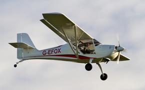 Picture the sky, easy, the plane, single-engine, double, Aeropro Eurofox 912