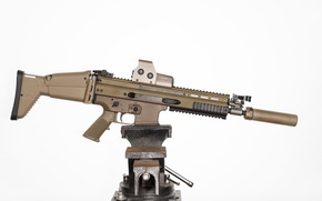 Picture weapons, machine, rifle, assault, FN SCAR-H