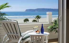 Picture the ocean, Villa, view, chair, CA, table, terrace