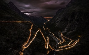 Picture scenery, time lapse, A great driving road