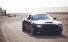 Picture road, desert, srt, Dodge, road, dodge, charger, sedan, SRT, the charger